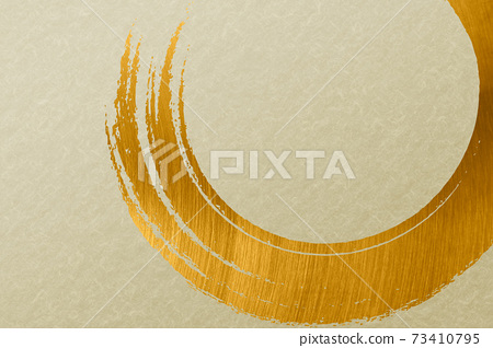 Illustration material Background material Japanese style Japanese paper Brush calligraphy Green matcha 73410795