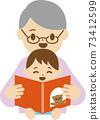奶奶和兒童圖畫書 73412599