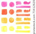 水彩顏料,塗料,手繪材料,質地,暖色 73412620