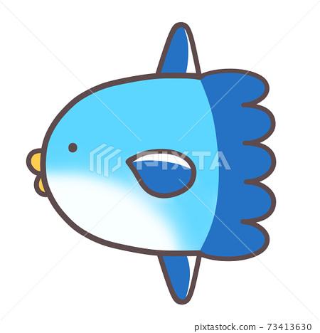可愛的海洋生物曼波 73413630