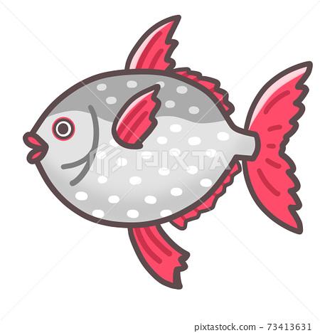 Cute sea creature, Mr. Red Sunfish 73413631