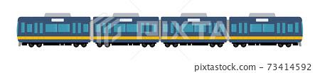 Vector illustration of a 4-car train 73414592