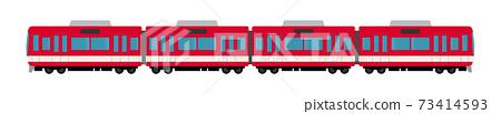 4車火車的矢量圖 73414593