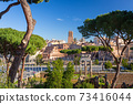 Ruins of the Roman Forum in Rome, Italy 73416044