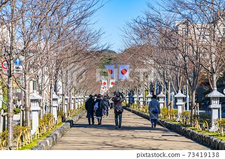 [가나가와 현] 가마쿠라 정초 3 일간의 段葛 73419138
