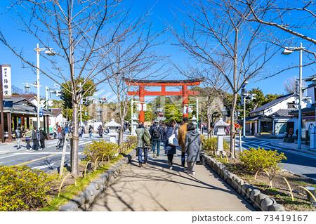[가나가와 현] 가마쿠라 정초 3 일간의 쓰루 오카 하치만 구 73419167
