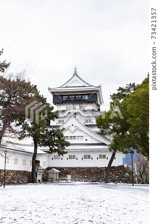 小倉城堡在雪中 73421357