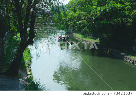 Omihachiman sailor rowing a boat 73421637