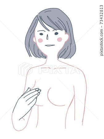 Naked woman illustration 73432813