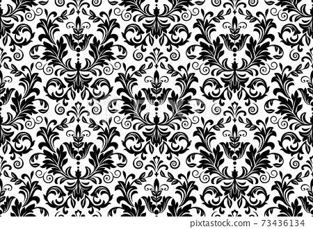 Wallpaper in the style of Baroque. Seamless vector  73436134