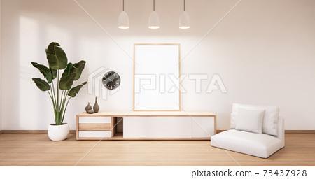 The frame on cabinet in modern living room, 3d rendering 73437928