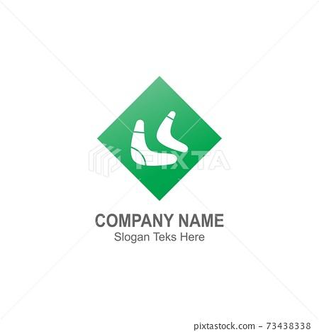 Boomerang logo icon illustration vector flat design template 73438338
