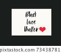 Black lives matter concept anti racism poster 73438781