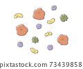 各種細菌和病毒(生氣的臉)的手繪彩色插圖 73439858