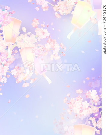 Material of cherry blossoms and lanterns-There are multiple variations 73445170