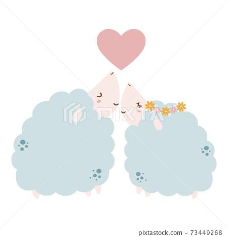 可愛的綿羊夫婦 73449268