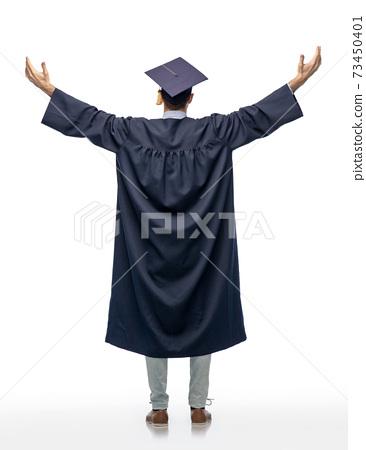 graduate student or bachelor celebrating success 73450401
