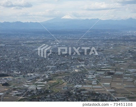 View of Mt. Fuji from a helicopter. 73451108