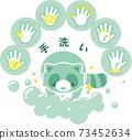 浣熊洗手 73452634
