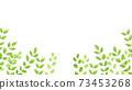 水彩風格鮮綠色下框 73453268
