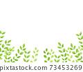 水彩風格鮮綠色下框 73453269