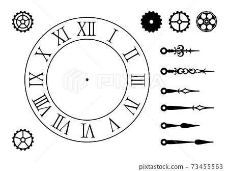 古董手錶零件,可用作時尚和精美插圖的背景 73455563
