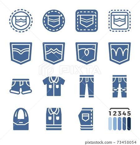 jeans icon set 73458054