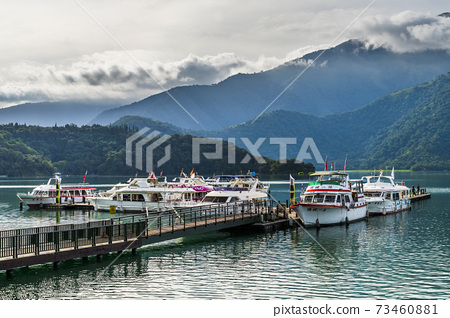 Scenery of Sun Moon Lake, the famous attraction in Taiwan, Asia. 73460881