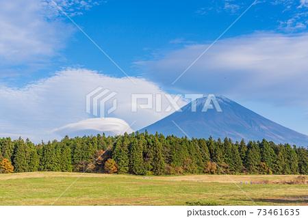 (靜岡縣)從路旁站朝霧高原/天文台看到的富士山 73461635