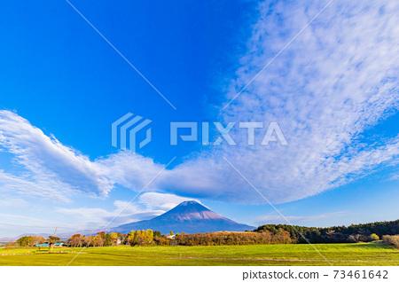 (시즈오카 현) 휴게소 朝霧高原 · 전망대에서 바라 보는 후지산 73461642
