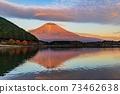 (Shizuoka Prefecture) Mt. Fuji evening view from Lake Tanuki 73462638