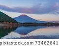 (Shizuoka Prefecture) Mt. Fuji evening view from Lake Tanuki 73462641
