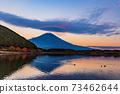 (Shizuoka Prefecture) Mt. Fuji evening view from Lake Tanuki 73462644