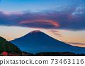 (Shizuoka Prefecture) Mt. Fuji evening view from Lake Tanuki 73463116