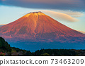 (Shizuoka Prefecture) Mt. Fuji evening view from Lake Tanuki 73463209
