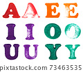 Rubber stamp letters 73463535