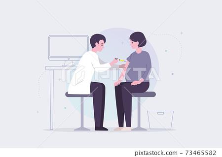 接種疫苗的孕婦 73465582