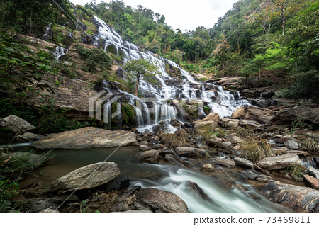 Mae Ya waterfall at Doi Inthanon national park, Chom Thong District,Chiang Mai Province, Thailand 73469811