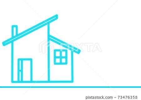 我的家庭圖像插圖,邀請屋頂,白色背景,文本空間,副本空間 73476358