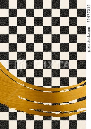 Illustration material Background Japanese style Japanese pattern Brush calligraphy image Background texture 73477016