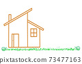 My home lawn illustration white background copy space input space blank space 73477163