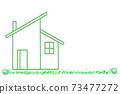 我的家庭草坪圖白色背景副本空間輸入空間空白 73477272