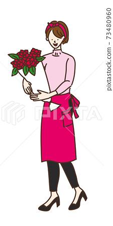 農業女孩,農業,農民,農民女孩插圖作品 73480960