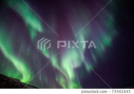 特羅姆瑟的極光,挪威極光,神秘風光,充滿極光的夜晚,舞蹈,旅程 73482843