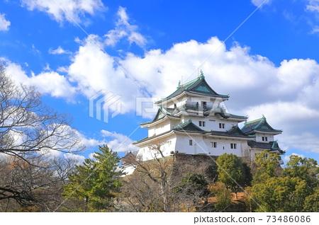 [和歌山縣]天氣晴朗的和歌山城,大小城堡塔 73486086
