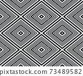 Black and white rhombus seamless pattern, illustration 73489582