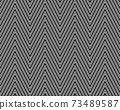 Seamless of black zigzag pattern on a white background 73489587