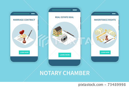 Notary Chamber Isometric Concept 73489998
