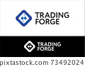 T and F Letters Trading Stock Market Logo Concept 73492024