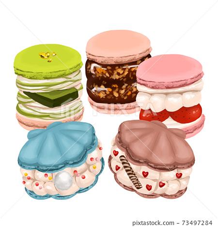 韓國糖果新潮蛋白杏仁餅乾tuncaron殼蛋白杏仁餅乾套裝 73497284
